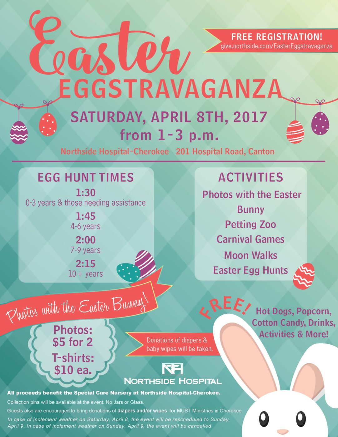 Northside Hospital's Easter Eggstravaganza - Satruday, April 8, 2017