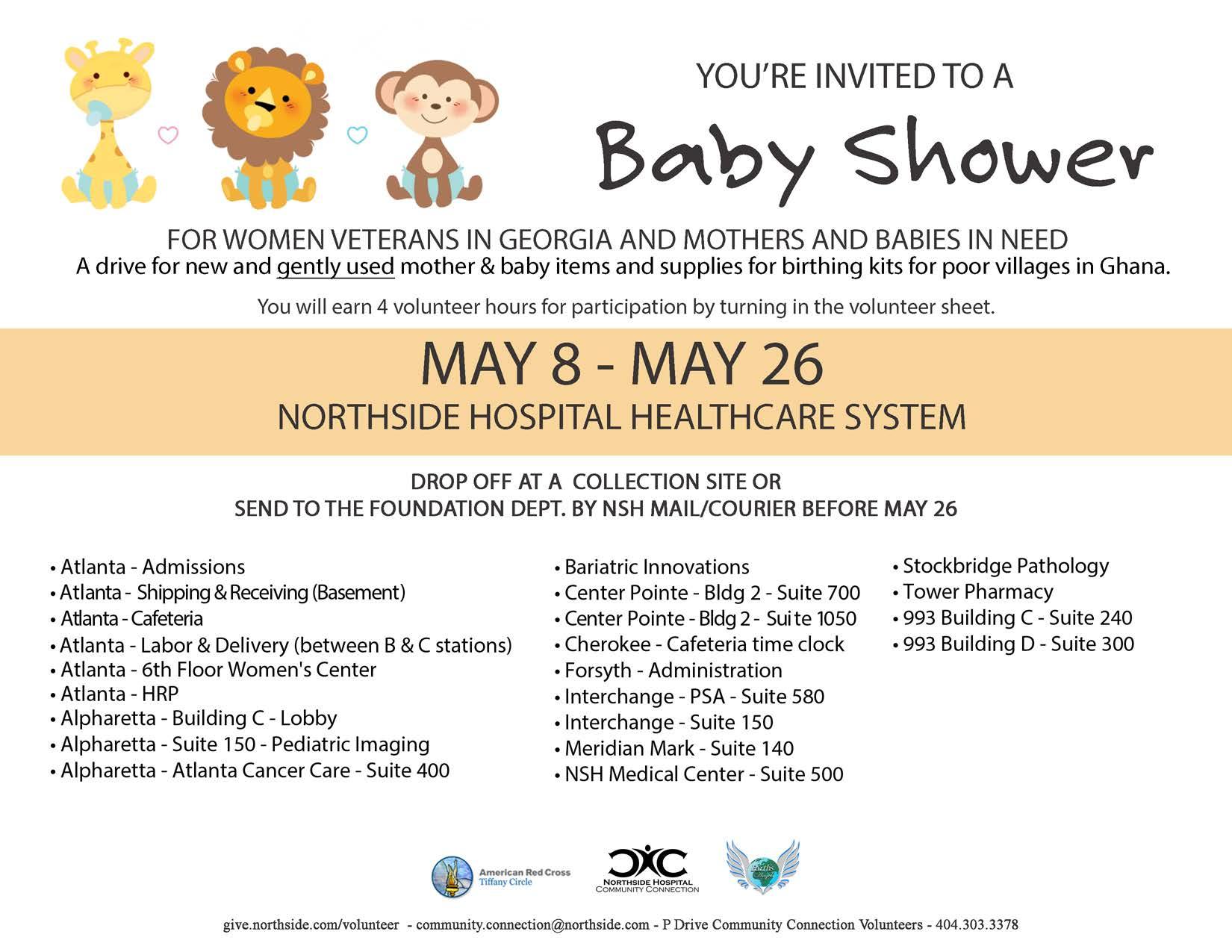 Northside Hospital Baby Shower Drive